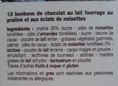 Escargots praliné lait - Ingredients