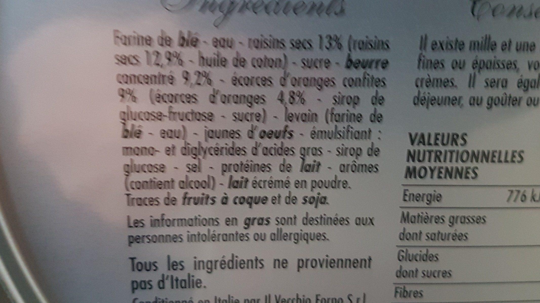 Panettone pur beurre festif boite métal - Ingrediënten - fr