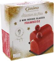 2 Mini bûches glacées Framboise - Product
