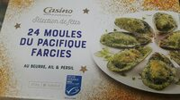 24 Moules du Pacifique farcies au beurre, ail & persil - Product - fr