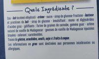 Crème glacée Vanille - A la vanille de Madagascar - Ingrédients - fr