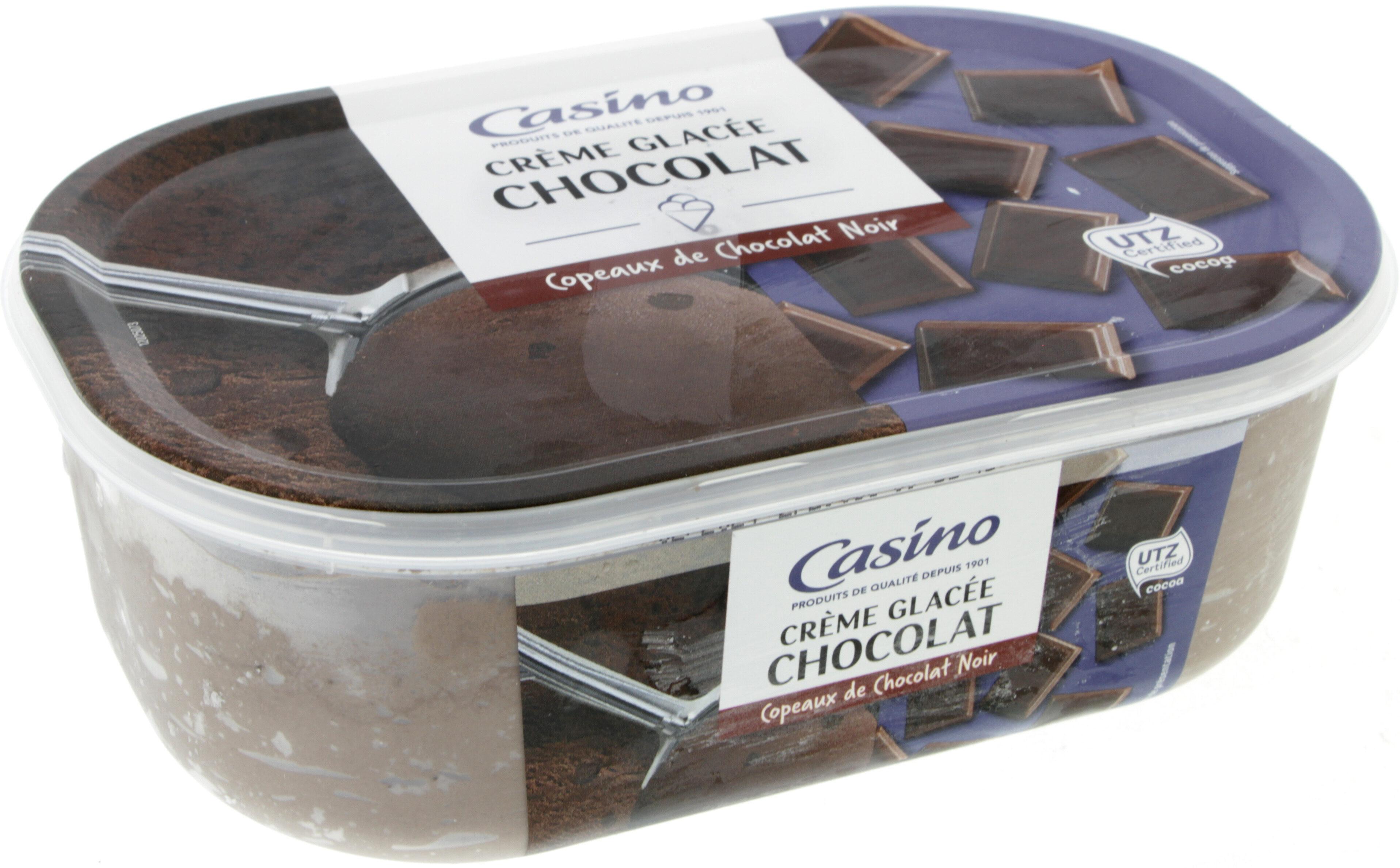 Crème glacée Chocolat - Copeaux de chocolat noir - Product