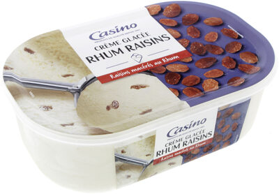 Crème glacée Rhum raisins - Raisins macérés au rhum - Produit