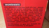 Box fusilli bolognaise - Ingrédients