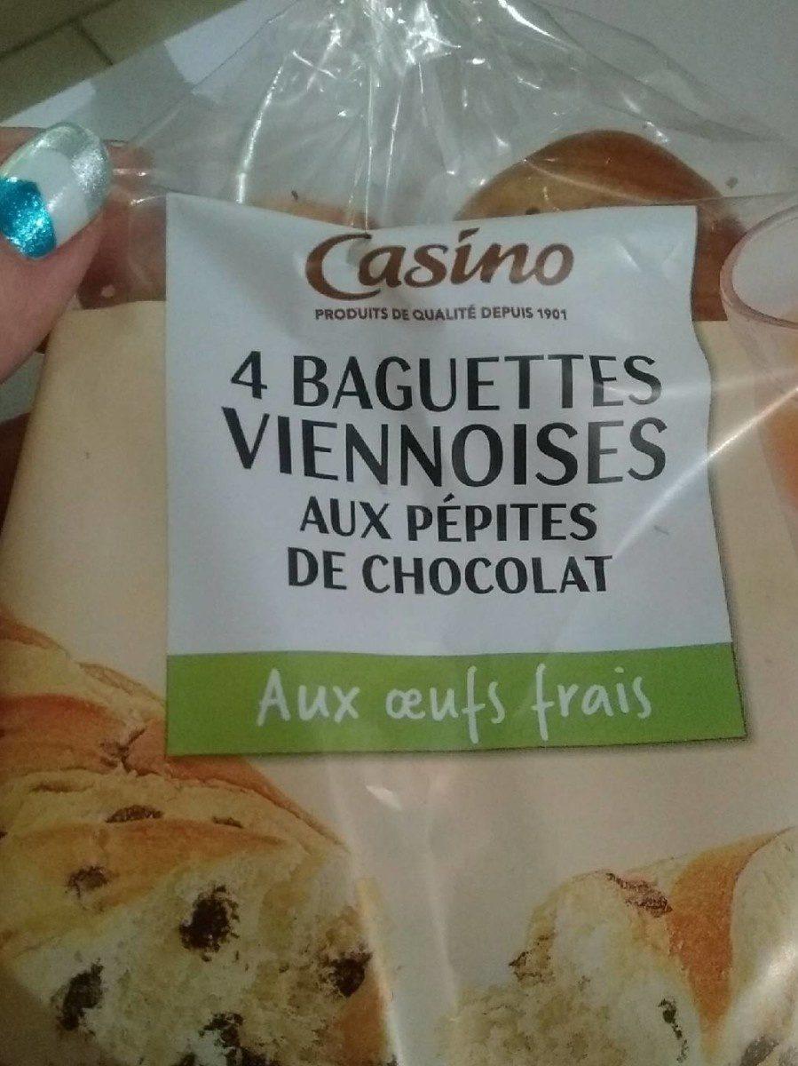 Baguettes viennoises aux pépites de chocolat - Product