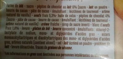 Baguettes viennoises aux pépites de chocolat - Ingredients