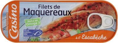 Filets de maquereaux sauce escabèche - Produit