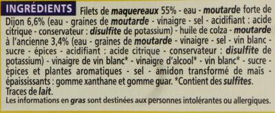 Filets de maquereaux - Ingrediënten - fr