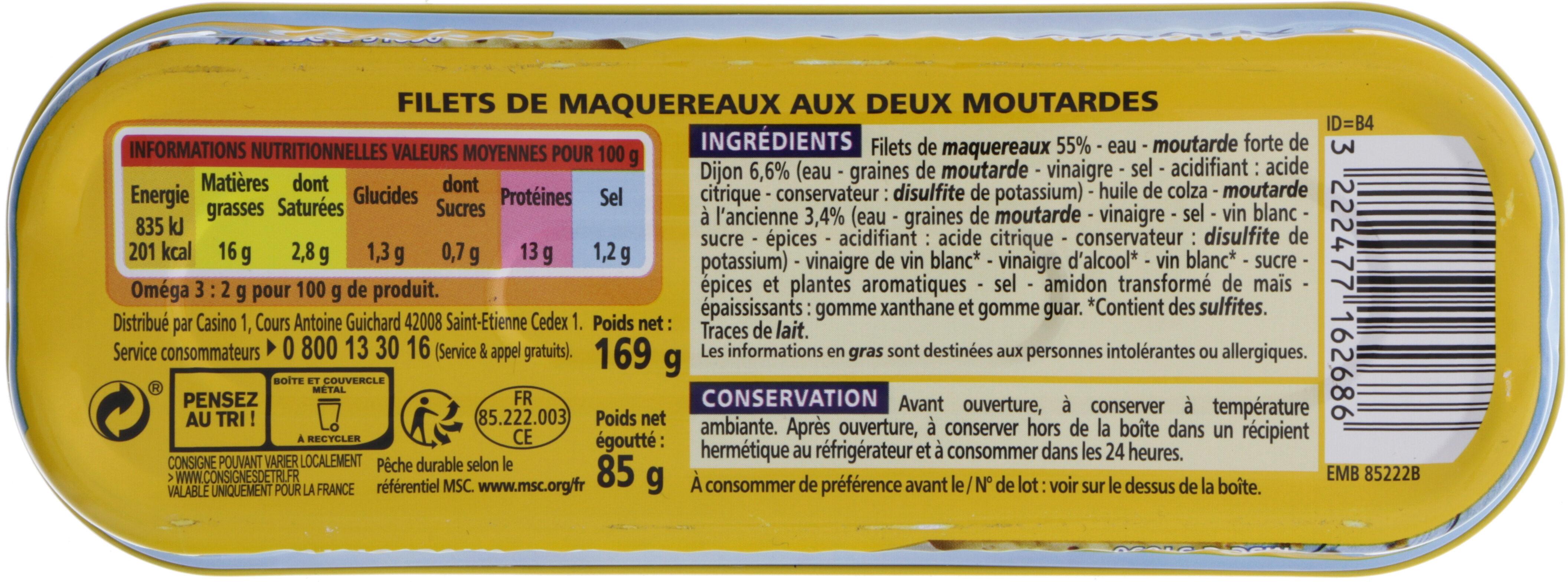 Filets de maquereaux - Voedingswaarden - fr