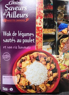 Wok de légumes sautés au poulet et son riz basmati - Product