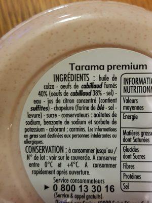 Le délicieux Tarama Premium - Ingredients