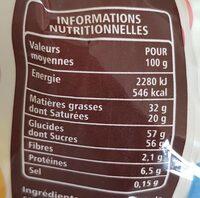 Kit à cacher chocolat au lait - Valori nutrizionali - fr