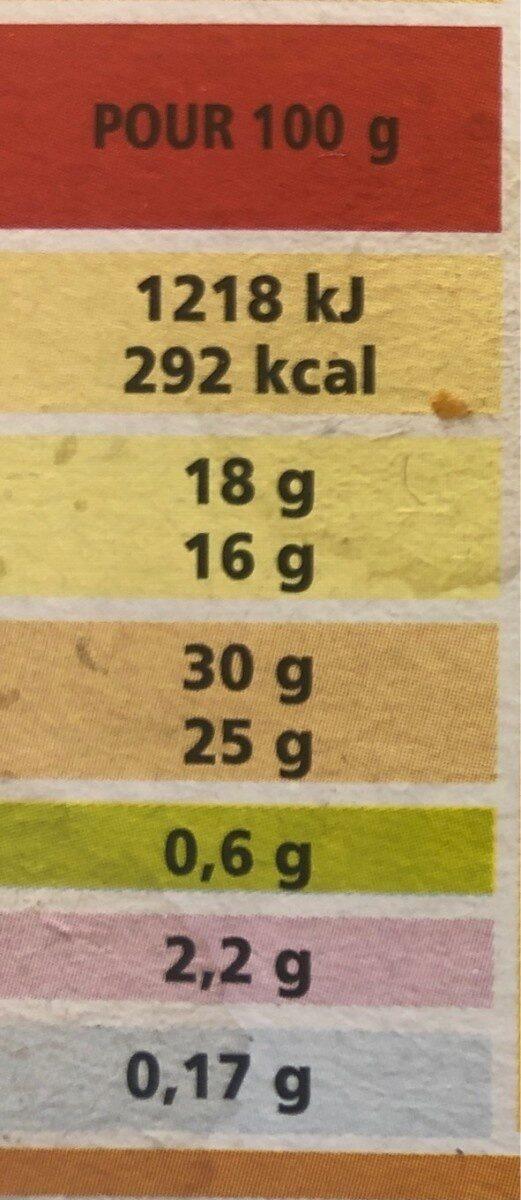 Bâtonnets vanille x5 & bâtonnets fraise x5 - Nutrition facts - fr