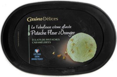 La Fabuleuse crème glacée Pistache Fleur d'oranger Eclats de pistaches caramélisées - Produit