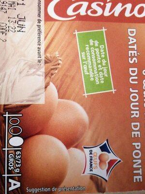 6 œufs frais - Product - fr