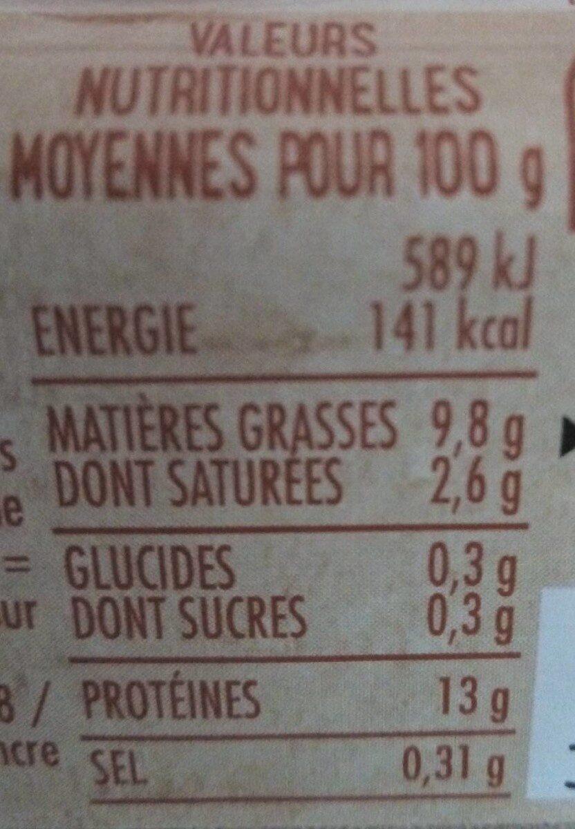 6 œufs frais - Voedingswaarden - fr