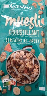 Muesli croustillant cereales et fruits - Produit - fr