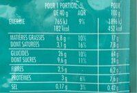 Muesli croustillant cereales et fruits - Informations nutritionnelles - fr