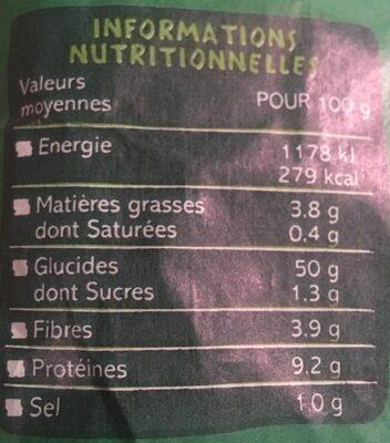 Baguette aux céréales biologique - Valori nutrizionali - fr