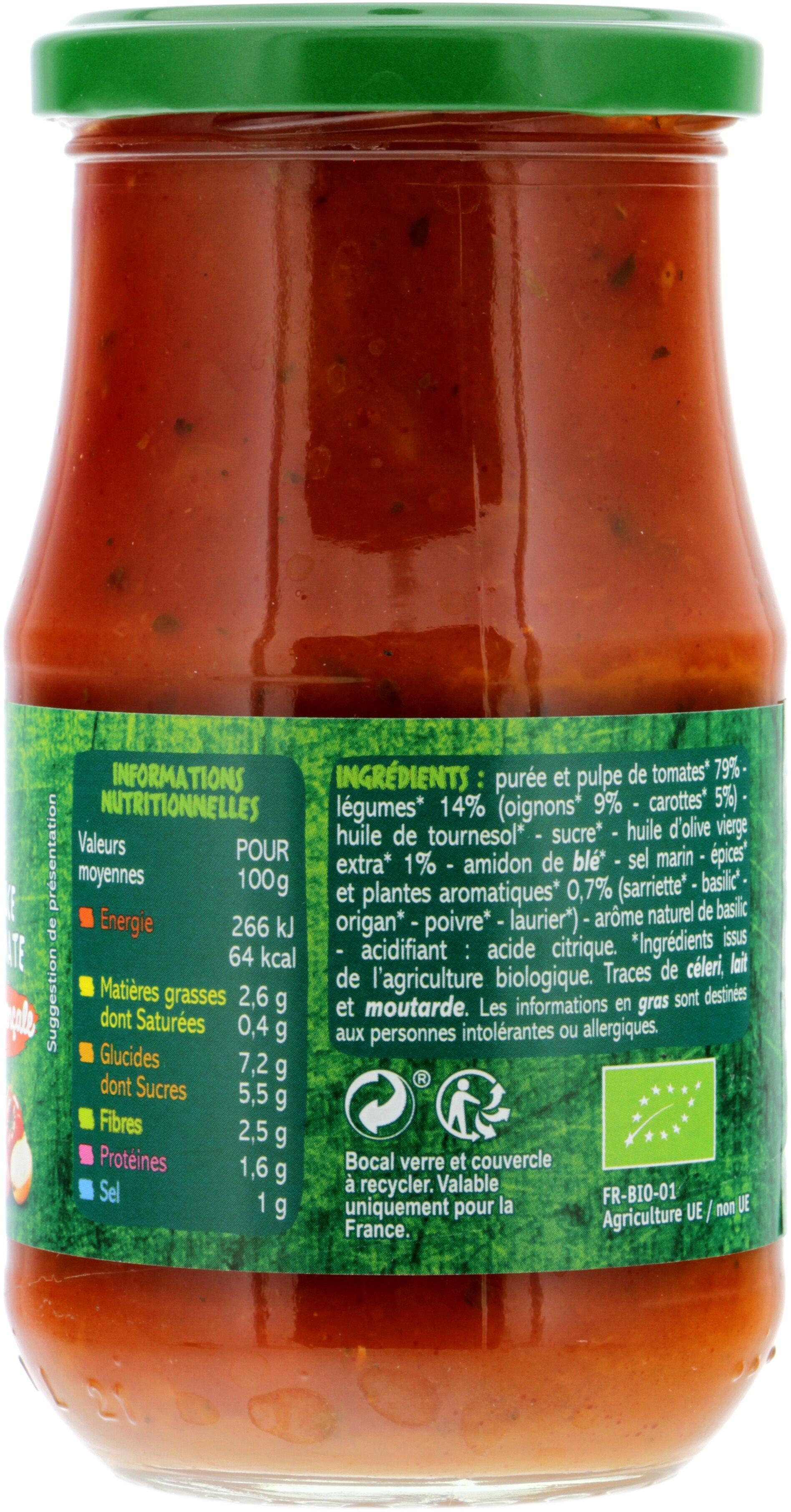 Sauce tomates provençale - Nutrition facts