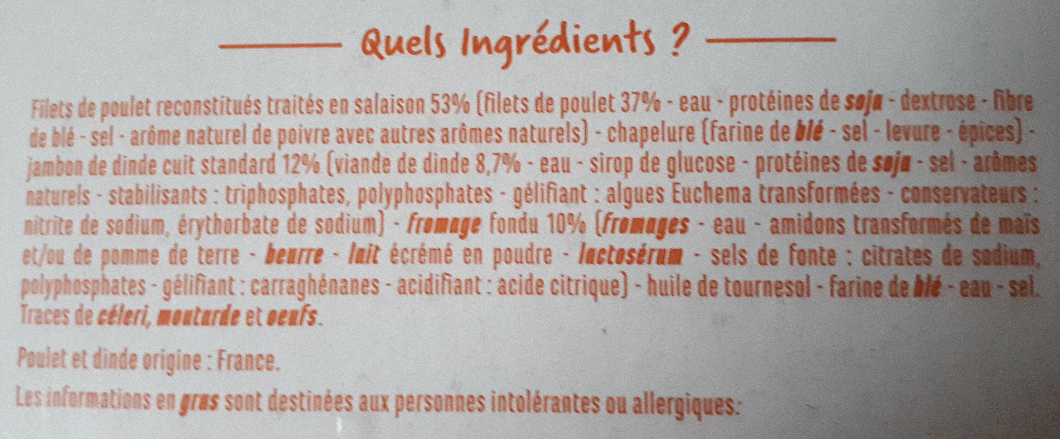 Cordons bleus Poulet - Ingrediënten - fr