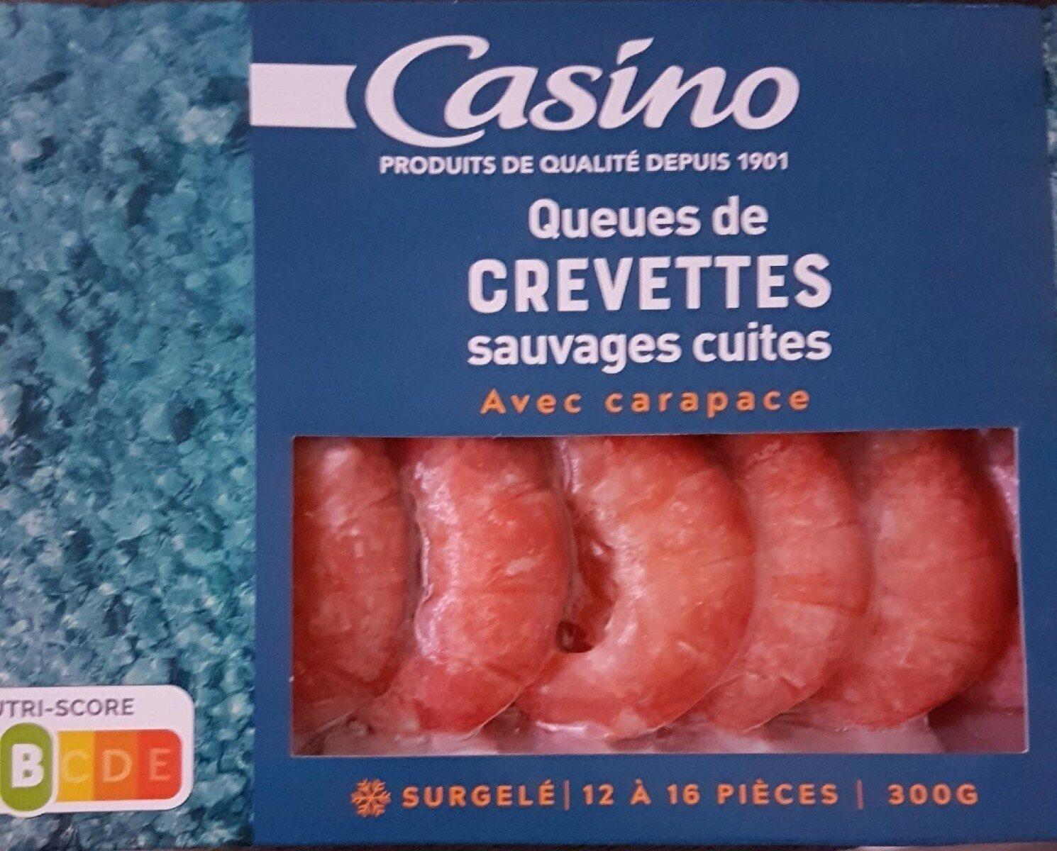 queues de crevette sauvages cuites surgelées - Produit - fr