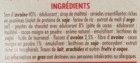 Barres son d'avoine et chocolat casino - Ingrediënten - fr