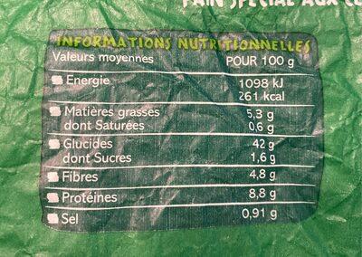 Boule aux céréales viologique - Nutrition facts