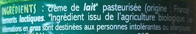 Creme fraîche de Normandie épaisse - Ingrédients - fr