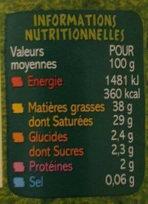 Creme fraîche de Normandie épaisse - Informations nutritionnelles - fr