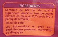 Nouilles en nid - Ingrediënten - fr