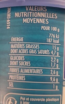 Tartinable Fromager au thon - Informations nutritionnelles - fr