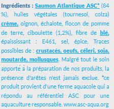 Prêt à Poêler Saumon Ciboulette - Ingrédients - fr