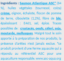 Prêt à Poêler Saumon Ciboulette - Ingredients - fr