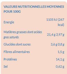 Prêt à Poêler Saumon Ciboulette - Nutrition facts - fr