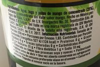 Del Valle Nectar de Mango - Información nutricional - es