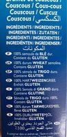 Couscous moyen - Ingrédients - fr
