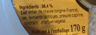 Cloche d'Or La Couronne de Touraine 170 g - Ingredients