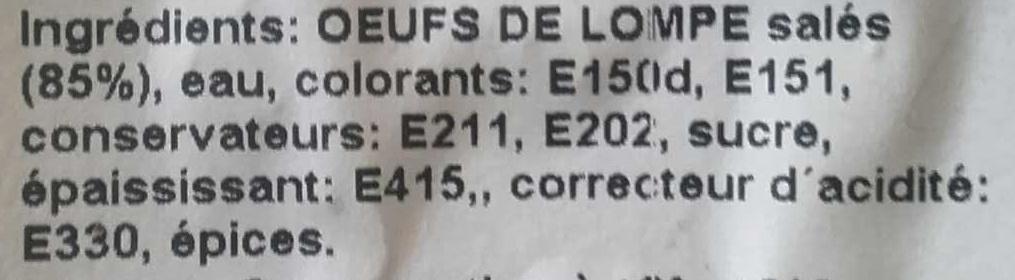 Œufs de Lompe Noirs - Ingredients - fr