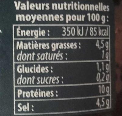 Œufs de Lompe Noirs - Nutrition facts - fr
