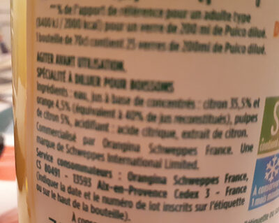 pulco citron - Ingredients - fr