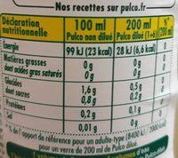 Pulco Citron à diluer - Informations nutritionnelles