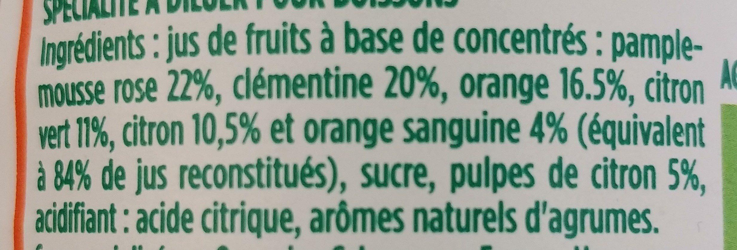 Pulco Agrumes à diluer - Ingrediënten - fr