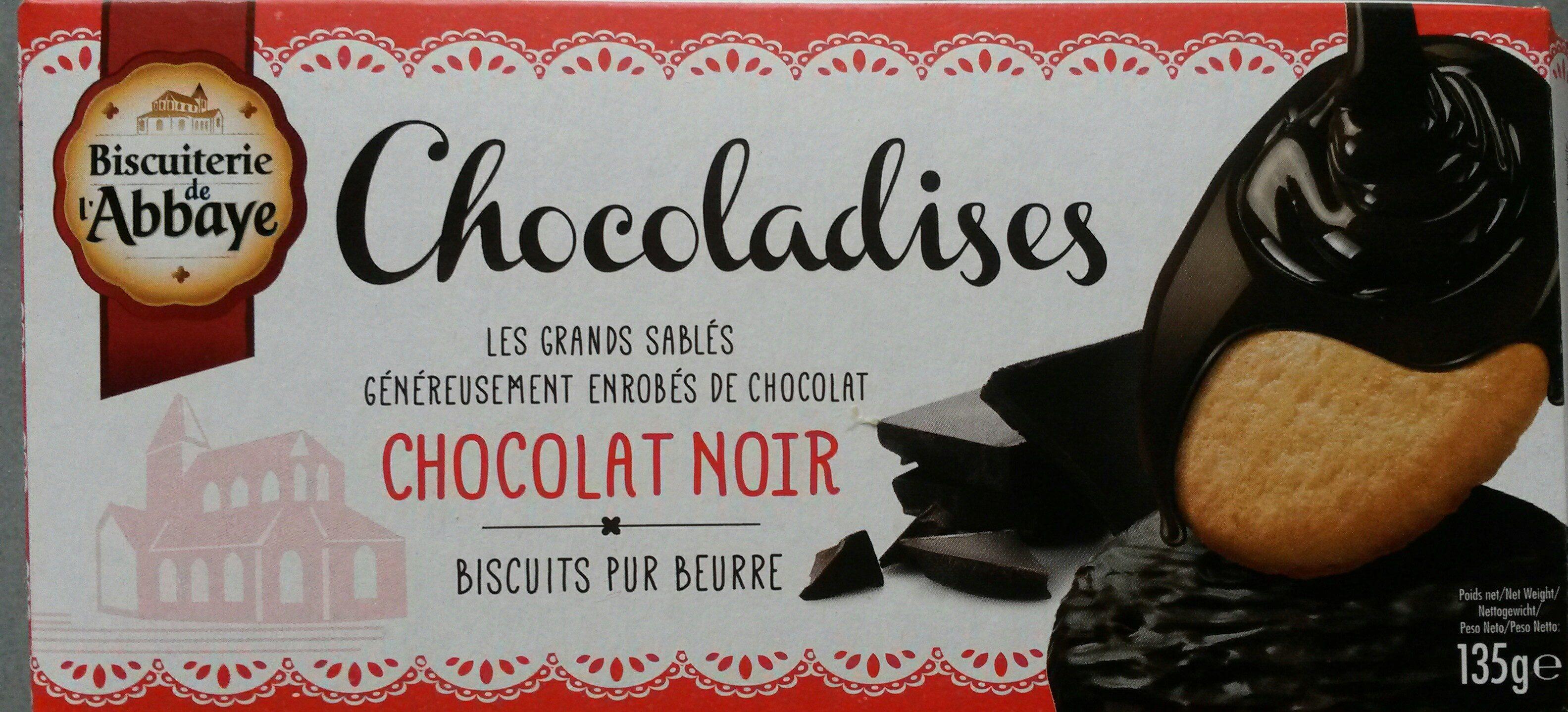 150G Chocoladises Noir Biscuiterie De L'abbaye - Produit - fr
