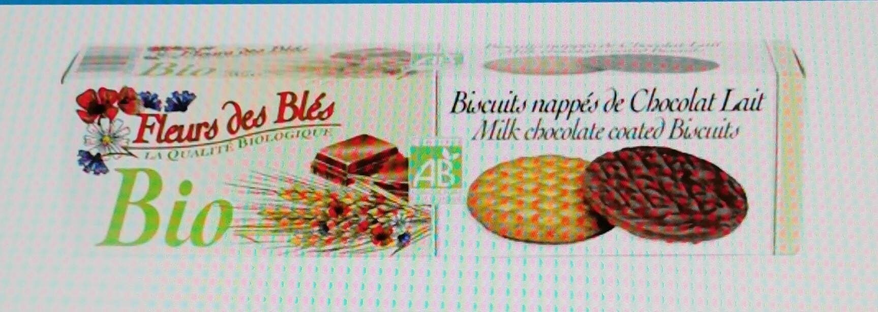 Biscuits nappés de chocolat lait - Product - fr