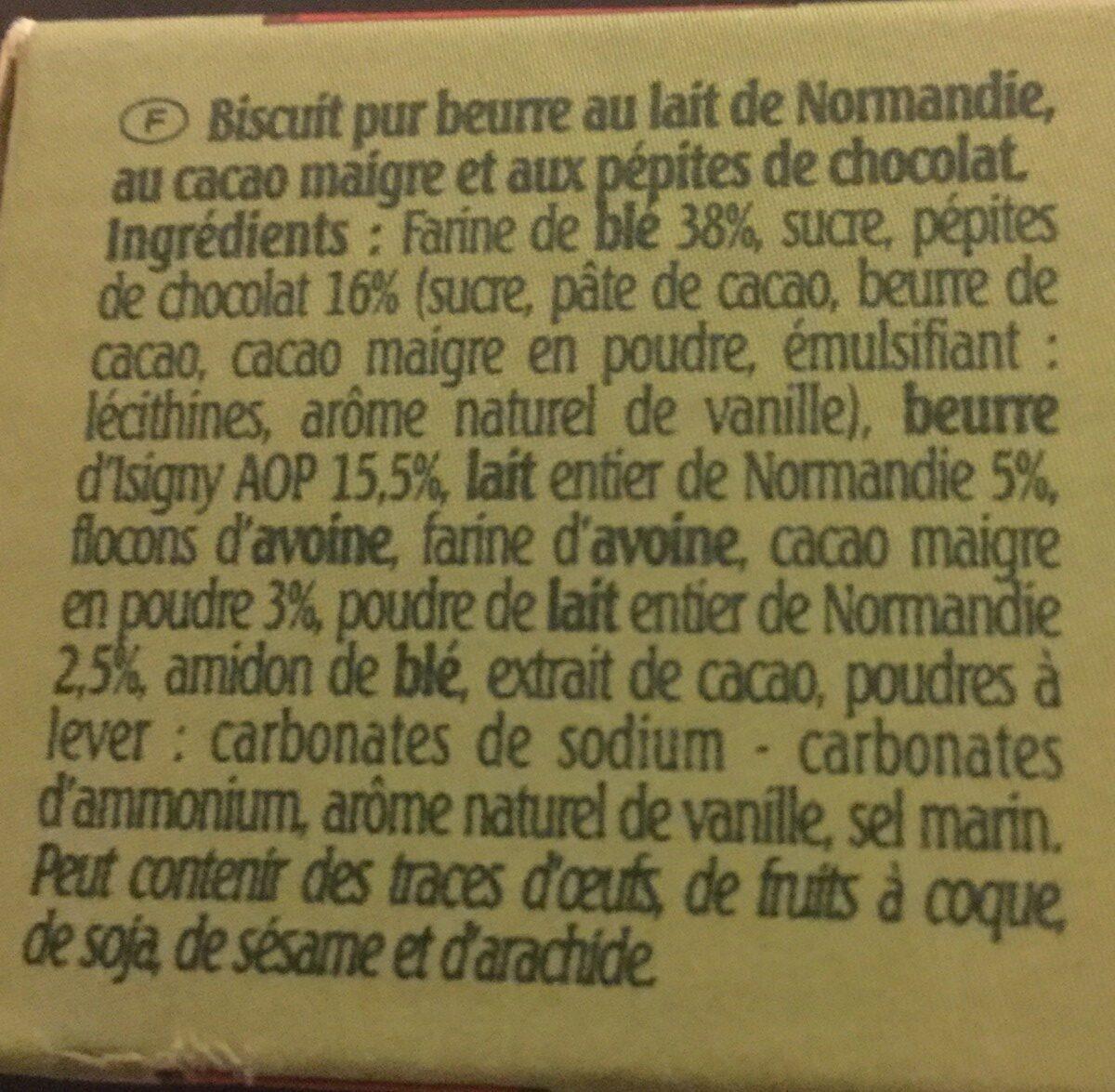 Le petit normand Pépites de Chocolat - Ingredients - fr