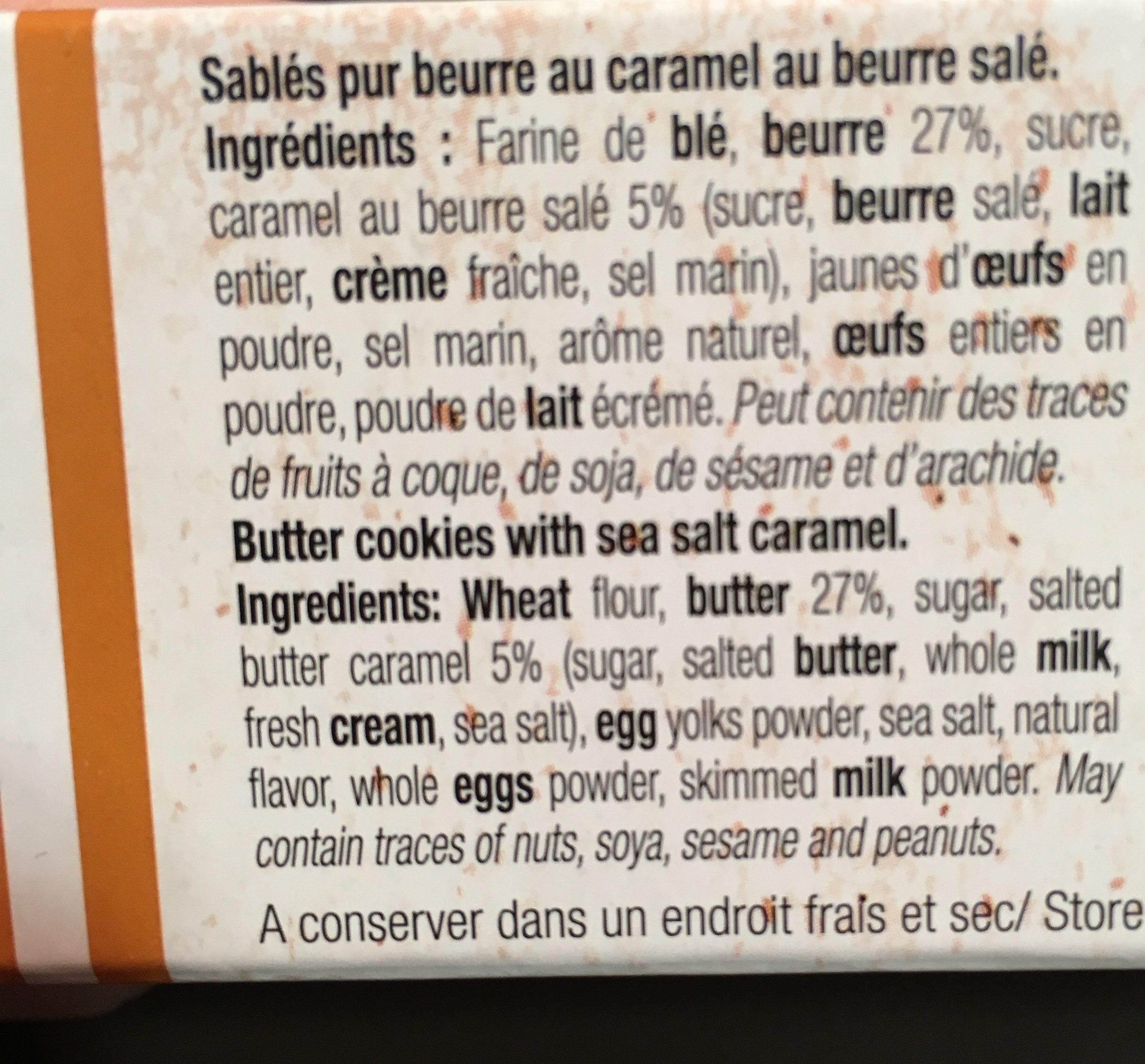 Palets croquants au caramel et beurre salé - Ingrediënten