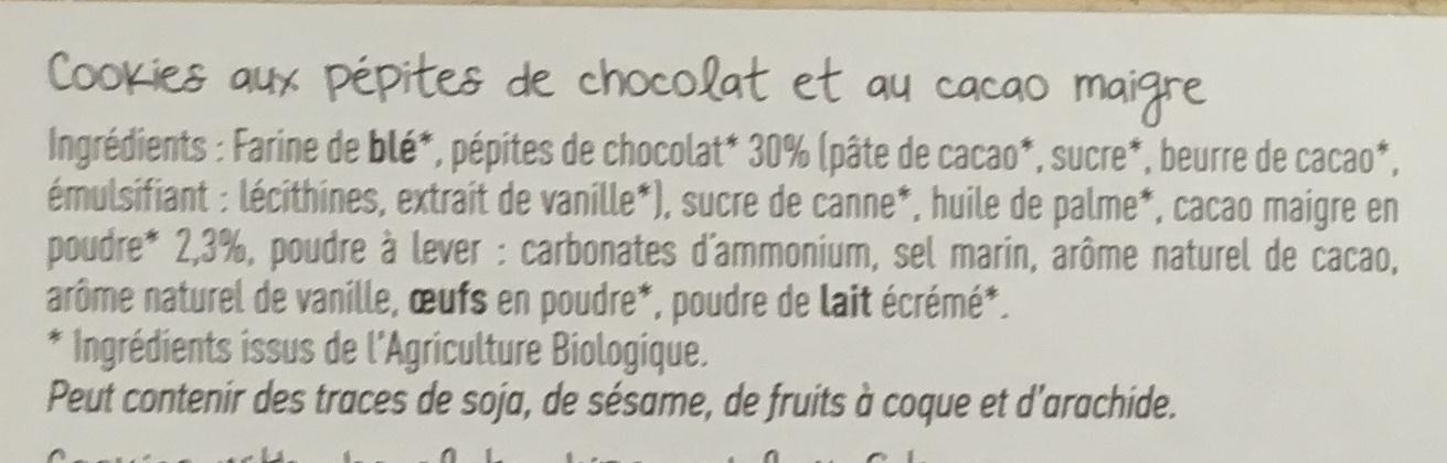 Cookies Chocolat - Ingrediënten - fr