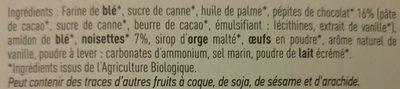 Cookies chocolat noisettes - Ingrediënten - fr