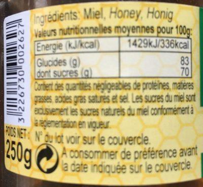 Miel de Romarin - Ingredients - fr